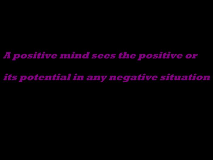 PhoXo3A positive mind