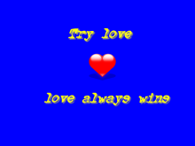 try love