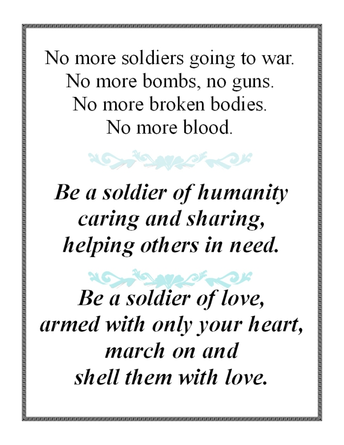 be a soldier