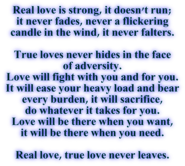 Real love true love